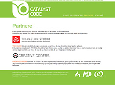 Catalyst Code website design, forside