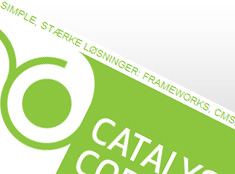 Catalyst Code website design, topbar detalje